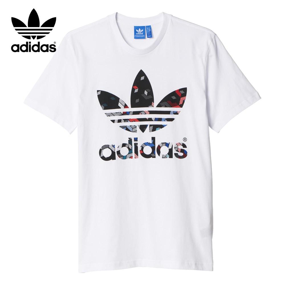 camiseta adidas negra y blanca hombre