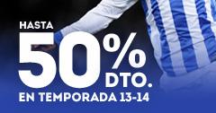 Hasta 50% dto. en temporada 13-14