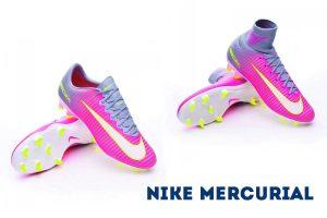 Mercurial en color Hyper pink para futbolistas de máximo nivel que busquen botas de fútbol de gama alta y ligeras con las que potenciar al máximo su velocidad en campos de hierba natural o césped artificial de última generación.