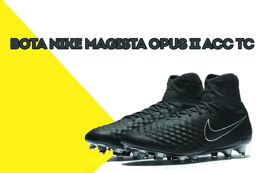 best sneakers a5a56 a5c0c Os presentamos las botas de fútbol Nike Magista Opus II, ideales para  campos artificiales y naturales. Son botas de gama alta en color negro  metálico, ...