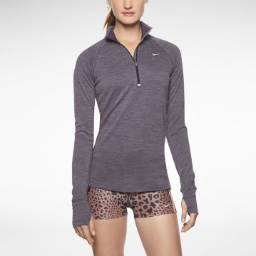 CAMISETA RUNNING NIKE DRI-FIT WOOL HALF-ZIP MUJER 546045-506