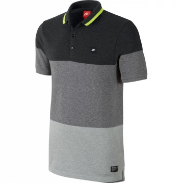 POLO NIKE LEAGUE GF NM ADULTO NEGRO Y GRIS 607664-032