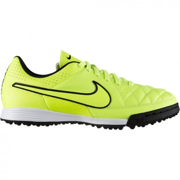 BOTAS FÚTBOL NIKE JUNIOR TIEMPO GENIO LEATHER TF MUNDIAL BRASIL 2014631529-770