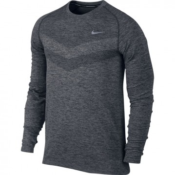 CAMISETA RUNNING NIKE DRI-FIT KNIT LONG-SLEEVE HOMBRE 642124-010