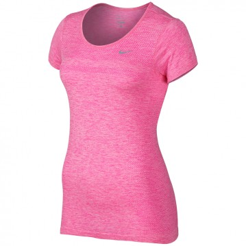 CAMISETA RUNNING NIKE DRI-FIT KNIT SHORT-SLEEVE MUJER 644680-667