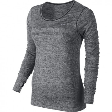 Camiseta running dri-fit knit long-sleeve mujer 644683-010