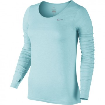 CAMISETA RUNNING NIKE DRI-FIT KNIT LONG-SLEEVE MUJER 644683-437