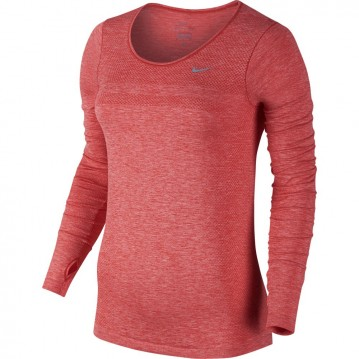 Camiseta running dri-fit knit long-sleeve mujer 644683-696