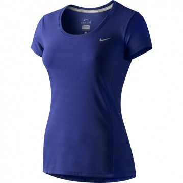 Camiseta nike dri fit contour mujer 644694-435