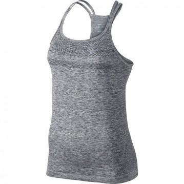 Camiseta running nike dri-fit knit mujer 645032-010