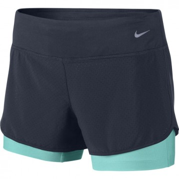 PANTALÓN CORTO RUNNING NIKE 5CM RIVAL PERFORATED 2-IN-1 MUJER 645468-451
