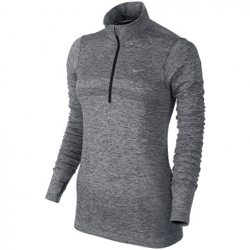 CAMISETA RUNNING NIKE DRI-FIT KNIT HALF-ZIP MUJER 659486-010