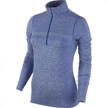 Camiseta nike dri fit knit half-zip mujer 659486-480