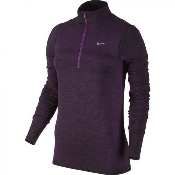 Camiseta nike dri fit knit half-zip mujer 659486-513
