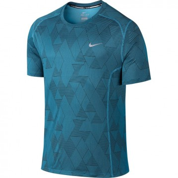 CAMISETA RUNNING NIKE DRI-FIT MILER OPTICAL RUN HOMBRE 683529-407