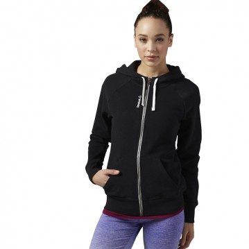 SUDADERA TRAINING REEBOK ELEMENTS FLEECE FULL ZIP MUJER