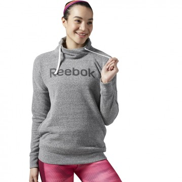 SUDADERA TRAINING REEBOK ELEMENTS LOGO COWL NECK MUJER
