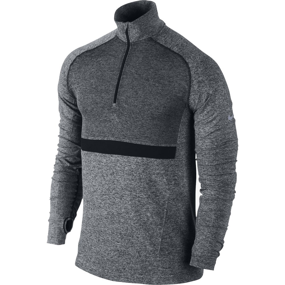 camiseta running nike dri fit knit long sleeve half zip. Black Bedroom Furniture Sets. Home Design Ideas