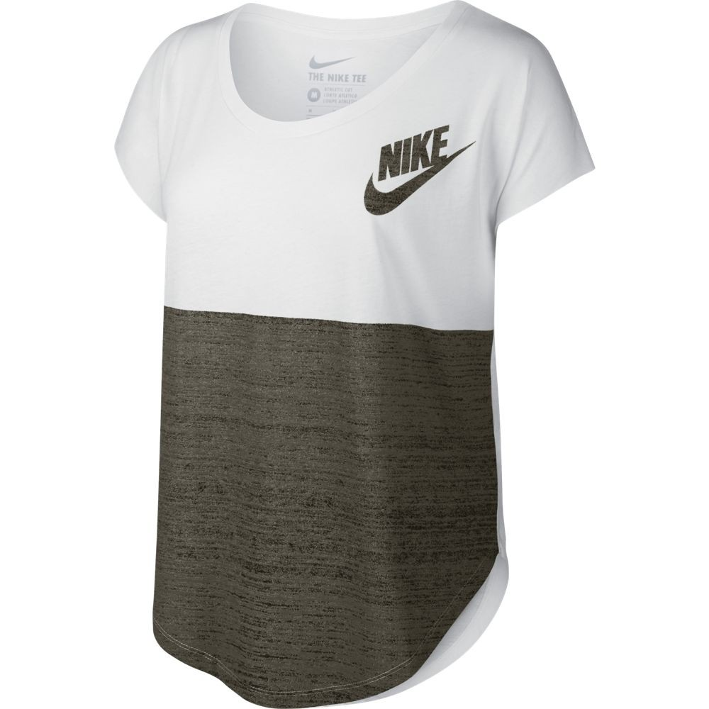 camiseta nike blanca tee signal color mujer 715335 100. Black Bedroom Furniture Sets. Home Design Ideas