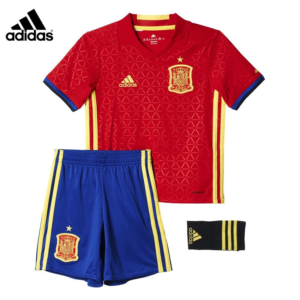 90d9141593849 MINI CONJUNTO OFICIAL FÚTBOL PRIMERA EQUIPACIÓN ESPAÑA UEFA EURO 2016 NIÑO  AA0824