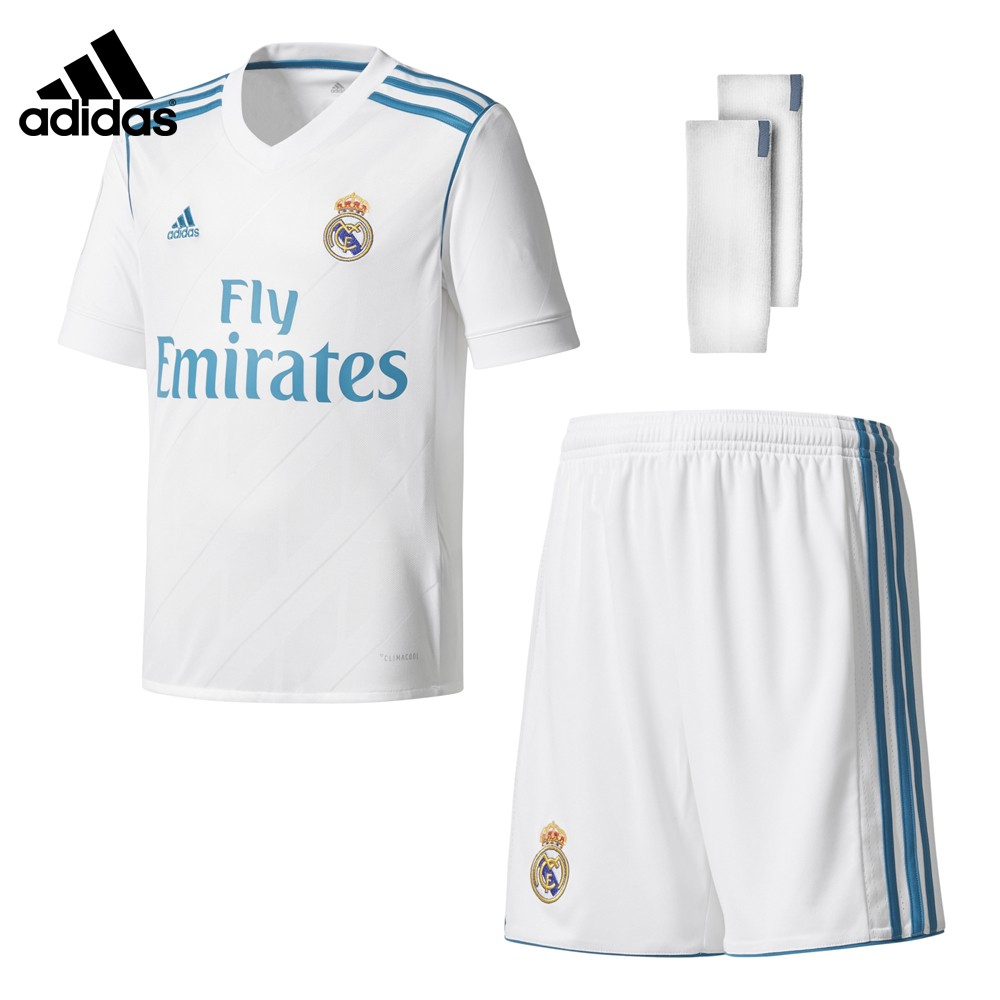 Kit oficial real madrid primera equipaci n 2017 2018 ni o b31114 - Fundas del real madrid ...