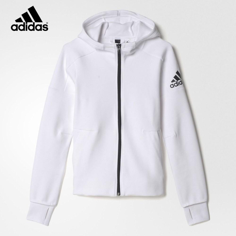 chaqueta adidas blanca y negra niña
