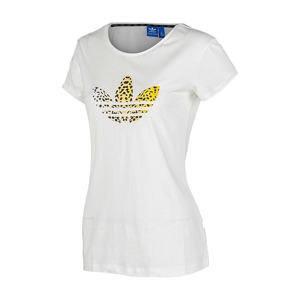 camiseta adidas trefoil mujer blanca