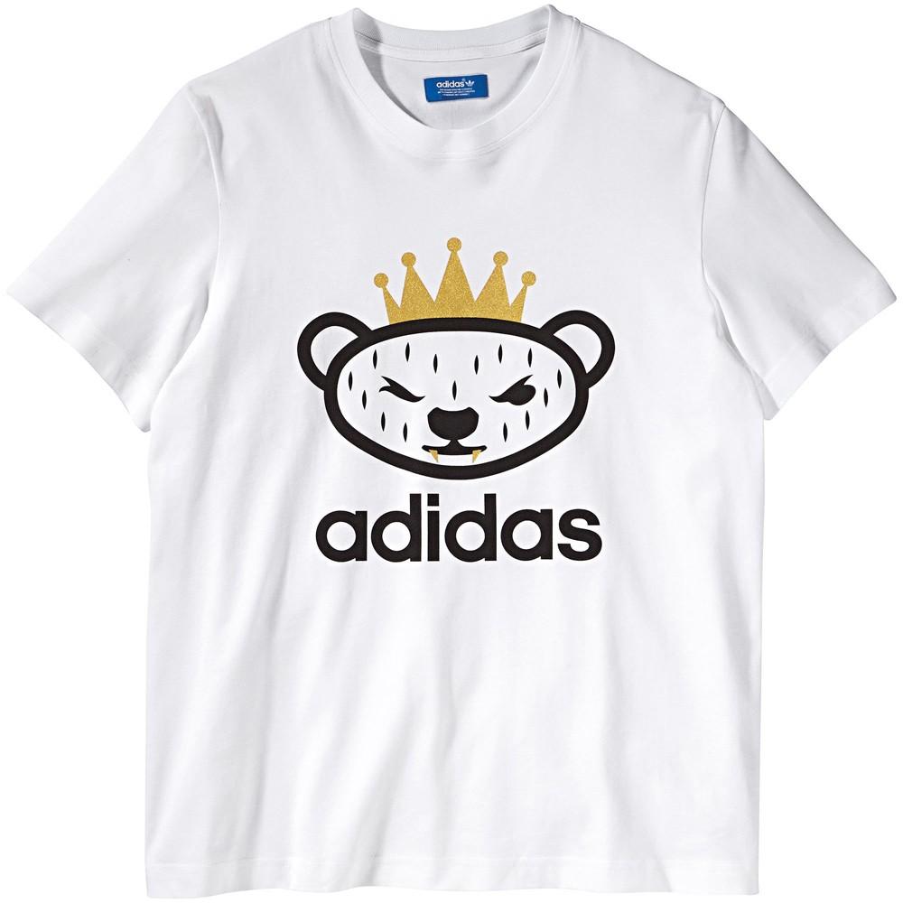 adidas camiseta blanca hombre